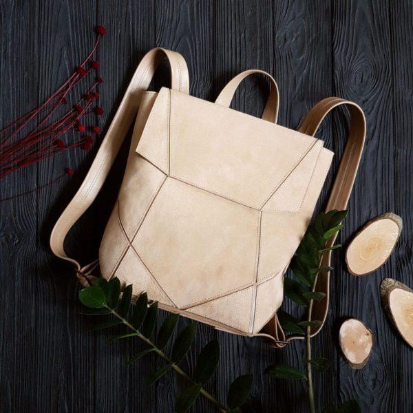 Бежевый рюкзак Geomi