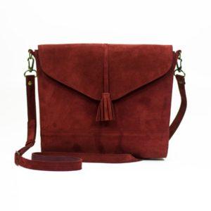 Бордовая сумка Libra с кисточкой