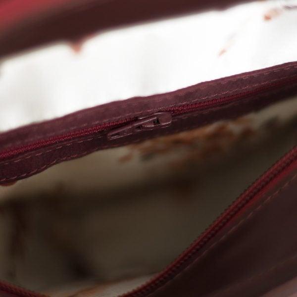 Сумка Lita бордово-коричневая кожа