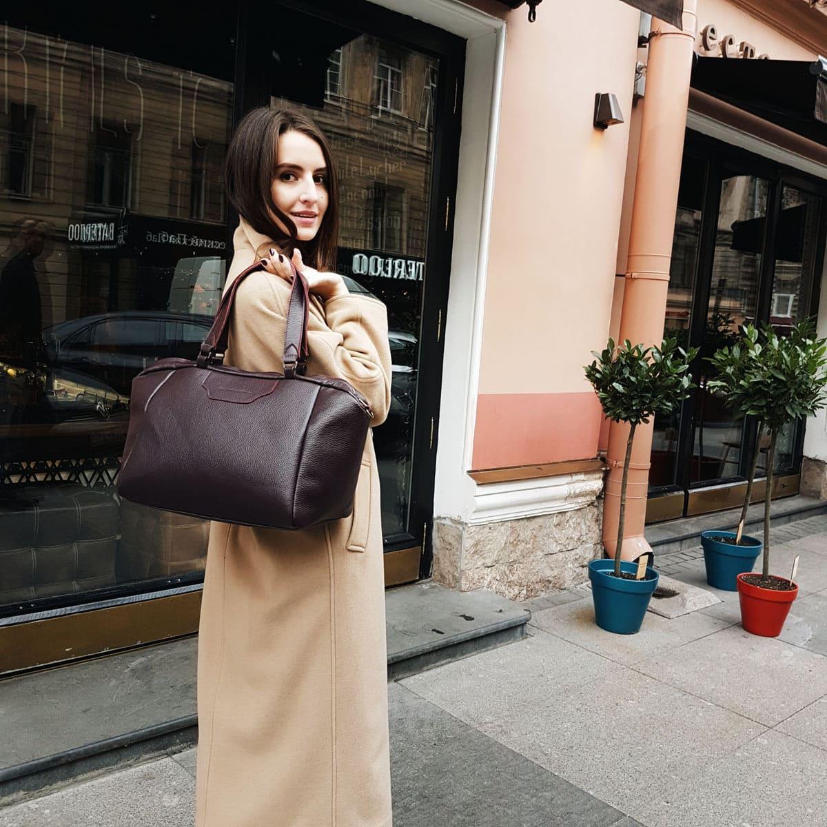 Обзор осенних образов с сумками Stia Bags
