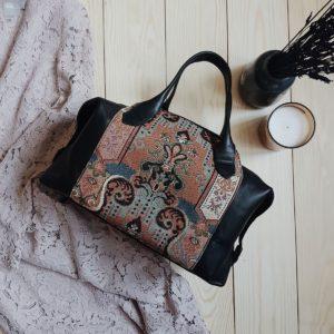 Черная сумка Manita с гобеленом