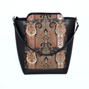 Черная сумка-шоппер Tetra с гобеленом