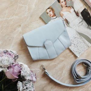 Поясная сумочка Frela голубая кожа