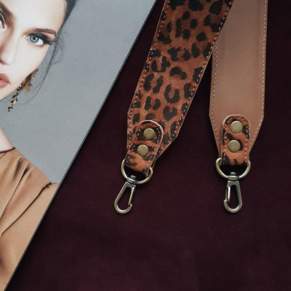 Съемный декоративный ремень 55 см леопардовая матовая кожа