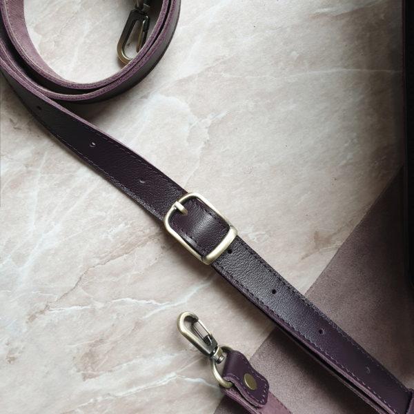 Сумка Liata в коже темно-пурпурного цвета