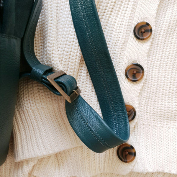 Рюкзак Argo комби изумрудная замша и зернистая кожа