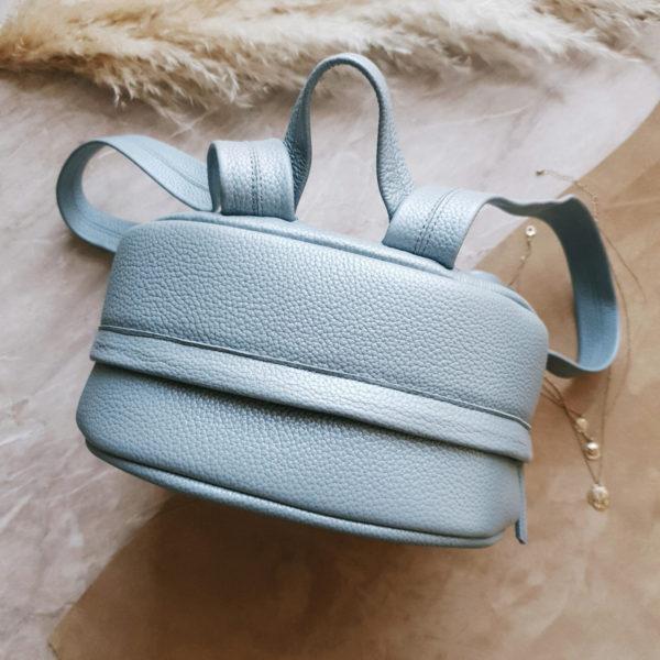 Рюкзак Argo жемчужно-голубая зернистая кожа