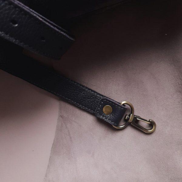 RamitaMini на молнии черничная замша с кожаным ремешком и ручками