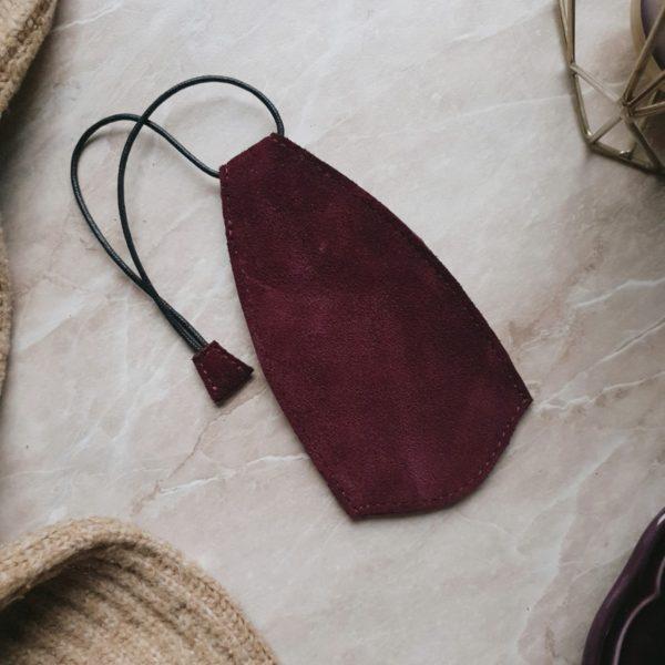 Ключница Deco в замше марсала с подкладкой