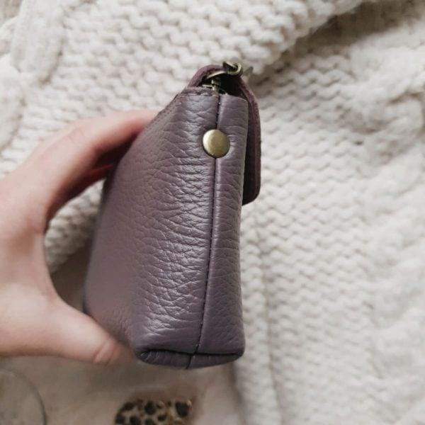 Кошелек Niko зернистая кожа пыльный фиолет