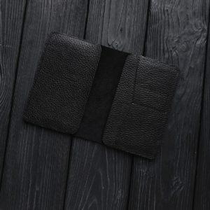 Органайзер Loge зернистая черная кожа