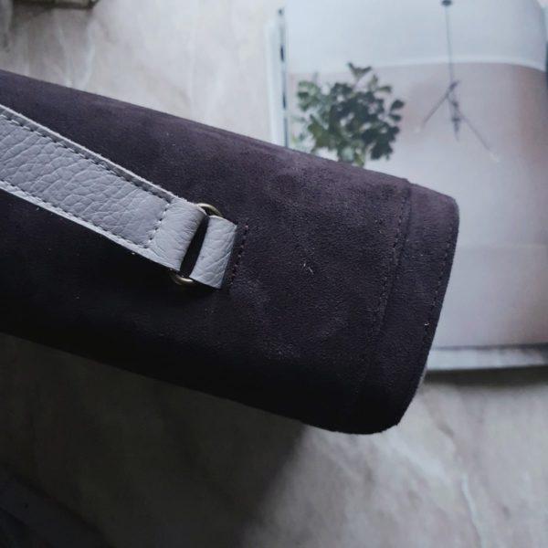 Сумка Liata комби темная пыльная сирень и молочно-сиреневая зернистая кожа