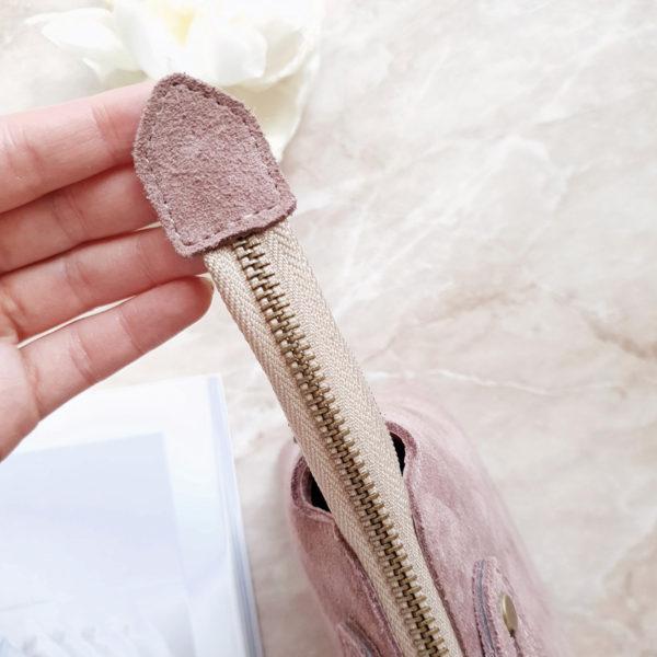 Сумка Navi без воланов замша лавандово-розовая