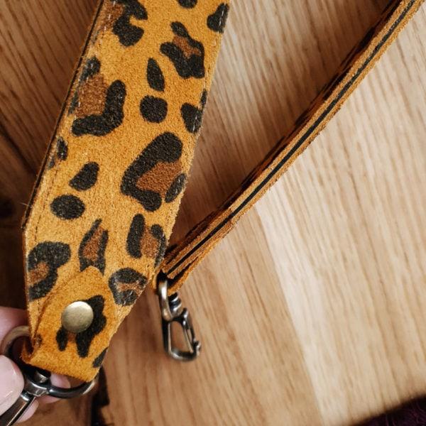Съемный декоративный ремень 55 см рыжий леопард