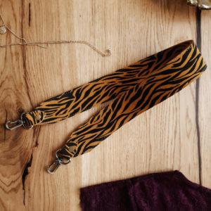 Съемный декоративный ремень 55 см яркая зебра