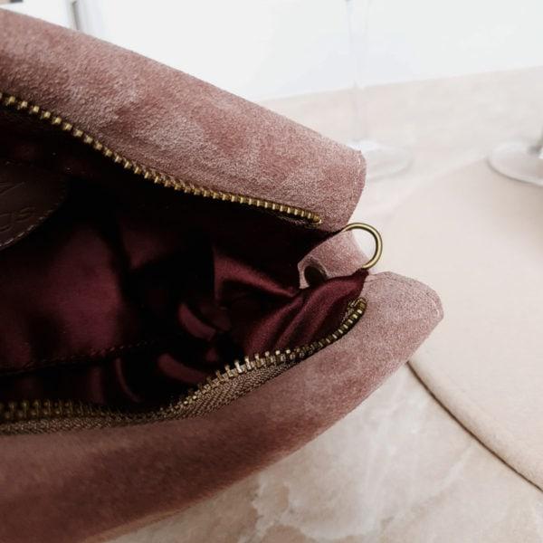 Клатч Pati лавандово-розовая замша