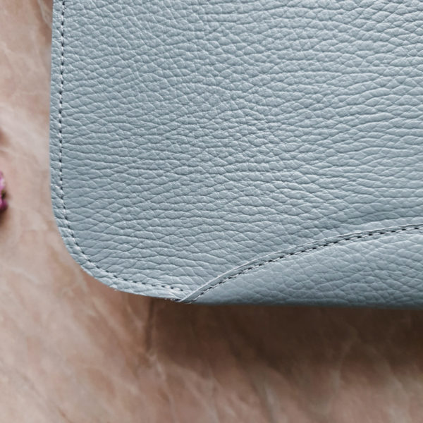Сумка Delany комби лазурно-голубой нубук и кожа