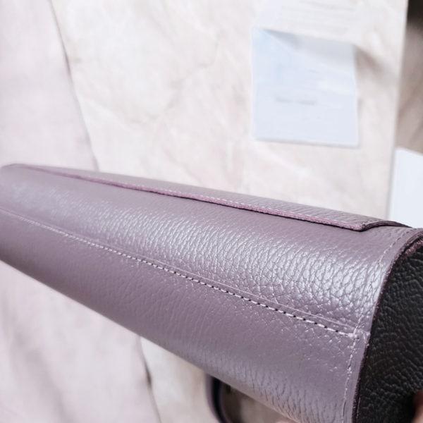 Сумка Liata кожа пыльный фиолет полностью