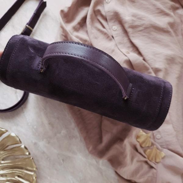 Сумка Liata комби черничная замша и кожа гладкая слива