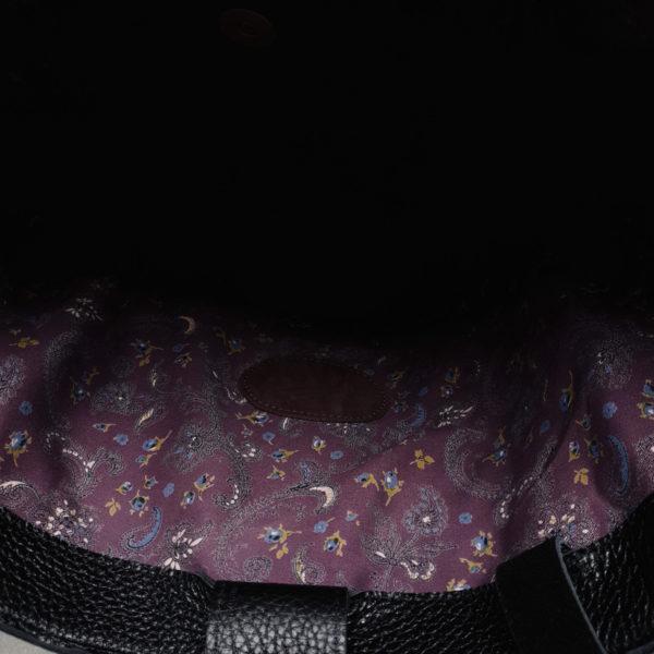 Шоппер TetraLight черная зернистая кожа