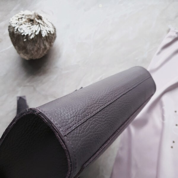 Сумка Liata комби замша и зернистая кожа пыльный фиолет