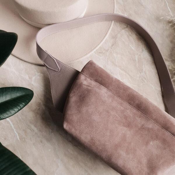 Gotcha комби лавандово-розовая замша и зернистая кожа светлая лаванда