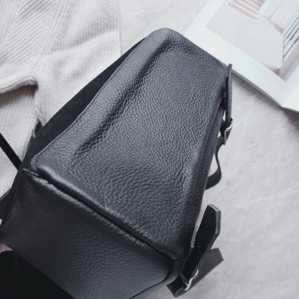 Рюкзак Gemini комби черная замша и фактурная кожа