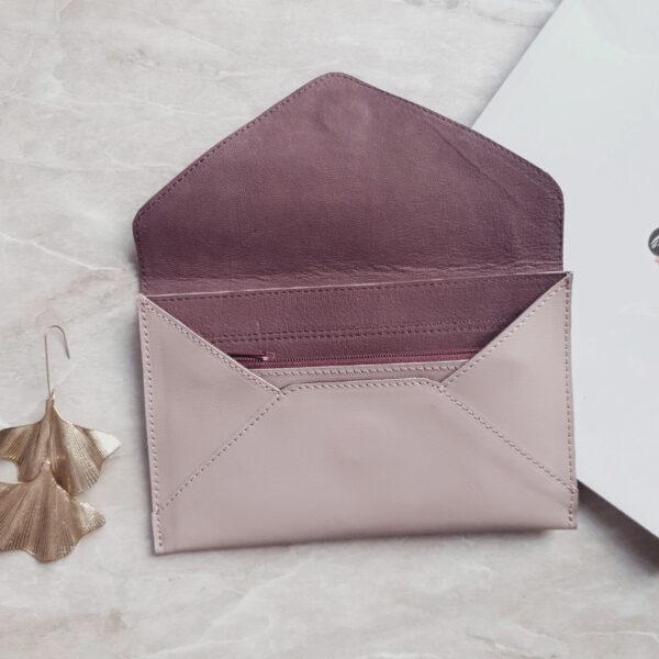 Letti комби серо-сиреневый нубук и пепельно-розовая гладкая кожа
