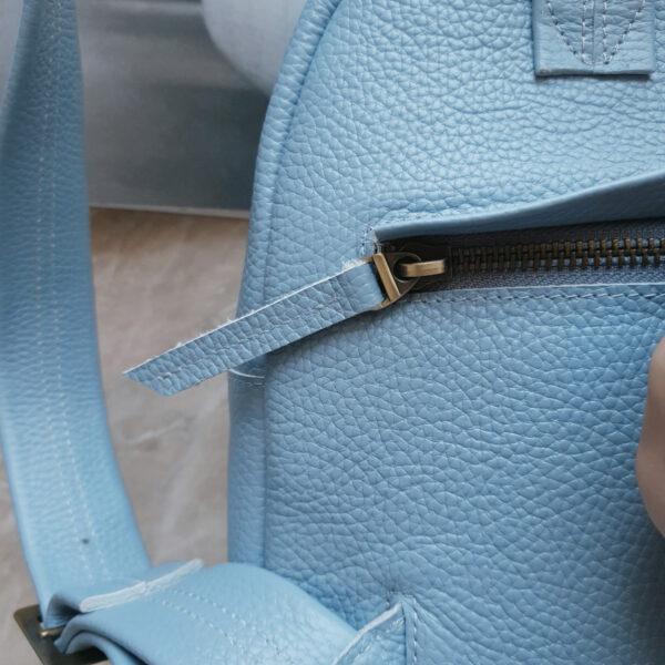Рюкзак Argo голубая зернистая кожа