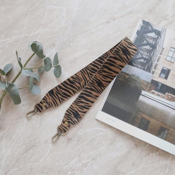 Съемный декоративный ремень 55 см замша зебра