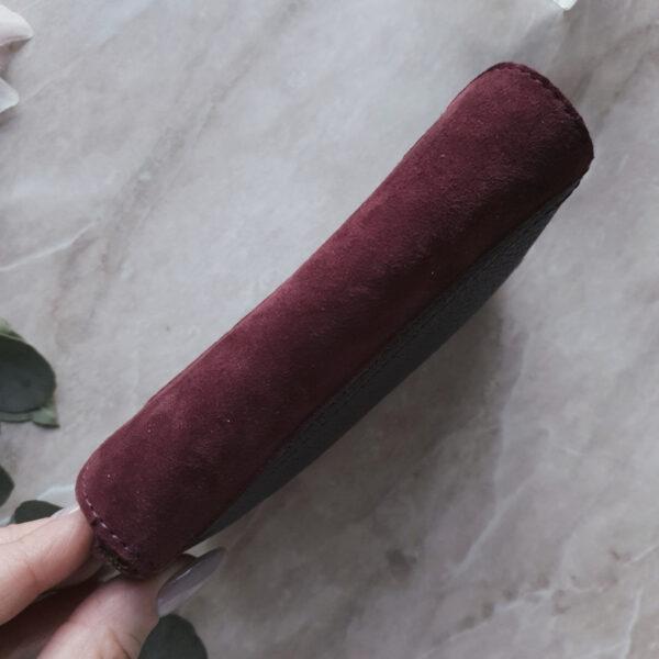 Кошелек Niko комби марсала с матовой зернистой кожей