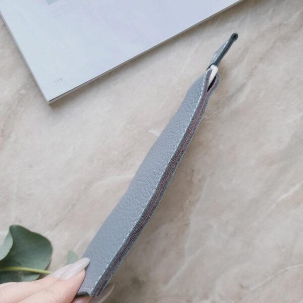Ключница Deco серо-голубая зернистая кожа