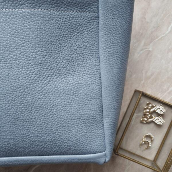 Шоппер TetraLight голубая зернистая кожа