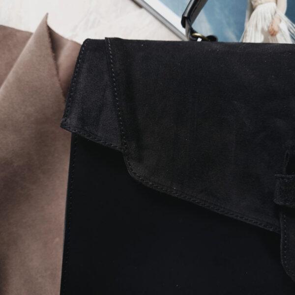 MiataM комби черная с гладкой кожей